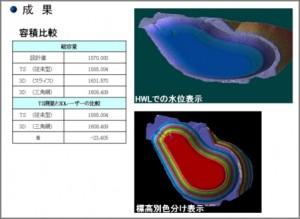 3Dレーザースキャナー使用による解析数値を光波による検証と比較