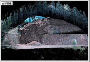 3Dレーザースキャナー 災害現場観測イメージ