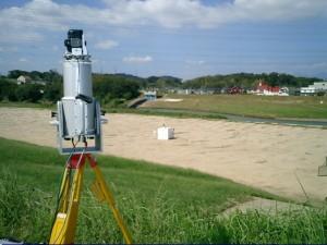 3Dレーザースキャナーの精度を検証イメージ