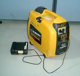 3Dレーザースキャナー用の発電機を使用