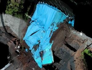災害現場 3Dレーザ-スキャナー観測画像紹介