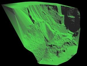 地形測量スキャニングデータイメージ