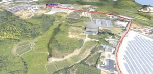 大分空港から国東営業所徒歩ルート3